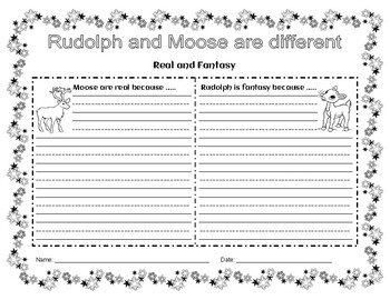Rudolph With Writing Starters