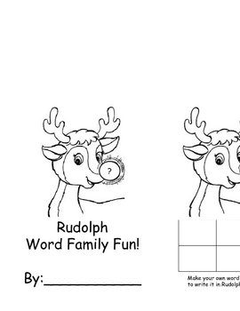 Rudolph Word Family Book--short vowels