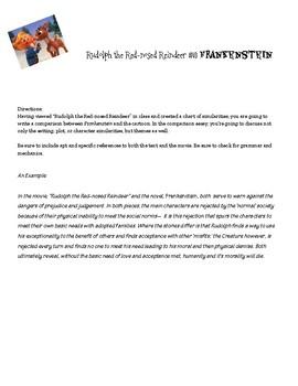 Rudolph and Frankenstein Comparison Essay