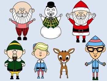 Rudolph and Friends Clip Art Set