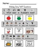 "Rudolph and Frosty Song ""WH"" Visual Comprehension Questions"