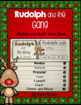 Rudolph and the Gang {Flipbook and Sight Word Game}