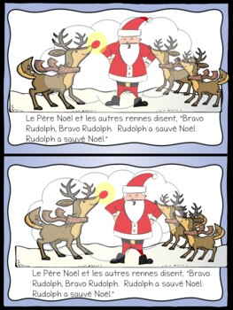 French Christmas, Rudolph et le Pere Noel, Lecture guidee, Niveau 6/7
