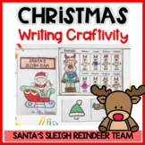 Rudolph man writing activities-Christmas craftivity-Santa'