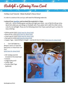 EASY Rudolph's Glowing Nose Holiday Christmas Card | LEDs Circuits Maker Space