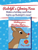 EASY Rudolph's Glowing Nose Holiday Christmas Card | LEDs