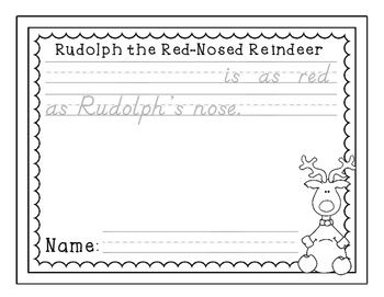 Rudolph's Nose is as Red as... Writing