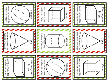 Rudolph's Solid Shapes Board Game - CCSS 1.G.1