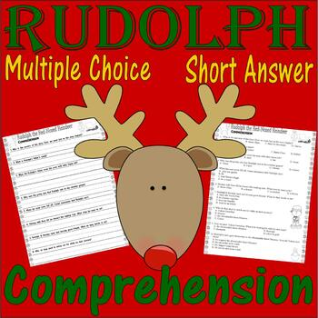 Rudolph the Red-Nosed Reindeer : Comprehension : Lined Handwriting Paper 3.6