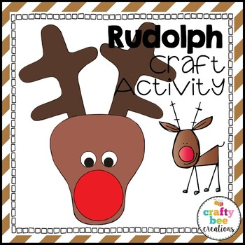 Rudolph the Red-Nosed Reindeer Cut and Paste