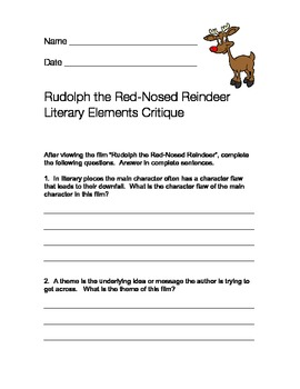 Rudolph the Red-Nosed Reindeer Literary Critique