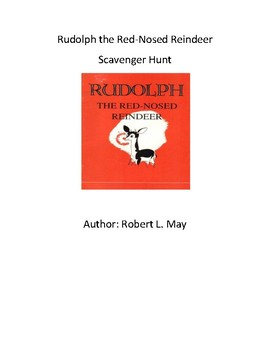 Rudolph the Red Nosed Reindeer - QR Code Scavenger Hunt - Christmas - Holiday