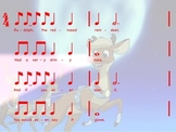 Rudolph the Red-Nosed Reindeer: rhythmic and melodic reading