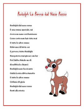 photograph regarding Words to Rudolph the Red Nosed Reindeer Printable identified as Rudolph The Crimson Nosed Reindeer Lyrics Worksheets Instruction