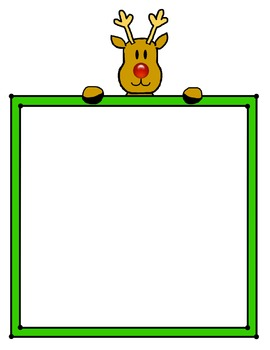 Rudolph with frame