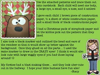 Rudolph's Crazy Cousin Craftivity