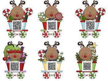 Rudolph's Express Train QR Code Word Problems