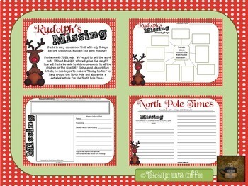 Christmas Writing {Rudolph's Missing!}