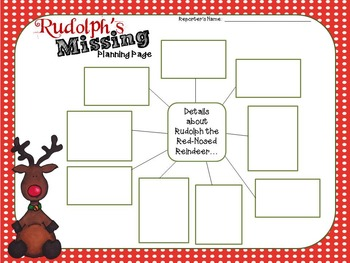 Rudolph's Missing- An Informative Writing with Details Activity