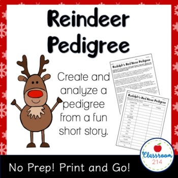 Rudolph's Red Nose Pedigree Worksheet