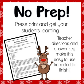 Rudolph's Red Nose Pedigree Worksheet