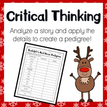 Rudolph's Red Nose Pedigree Worksheet by Classroom 214 | TpT