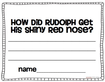 Rudolph's Silly Nose {Writing Prompt and Craft Template}