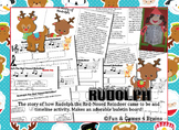 Rudoph the Red-Nosed Reindeer Booklet, Time line, and bulletin board activity