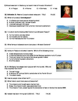 Rudy Maxa Salzburg & the Lakes District Video Worksheet