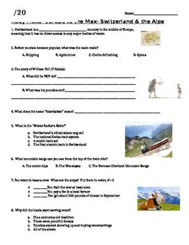 Rudy Maxa's Switzerland & the Alps video Worksheet