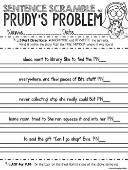 Reading Street, Prudy's Problem and How She Solved It Teacher Pack