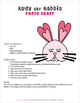 Rudy the Rabbit Paper Craft