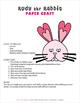 Rudy the Rabbit Paper Craft