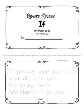 Rudyard Kipling's If Tracer Booklet