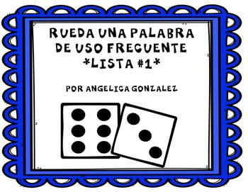 Rueda una palabra- Lista 1 (Roll a word SPANISH)