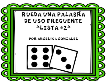 Rueda una palabra- Lista 2 (Roll a word SPANISH)