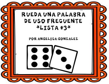 Rueda una palabra- Lista 3 (Roll a word SPANISH)