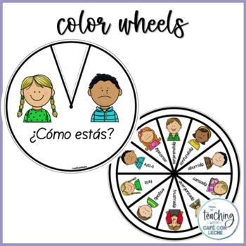 Ruedas de emociones - Spanish Feelings Wheels