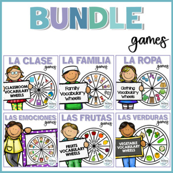 Ruedas de vocabulario / Spanish Vocabulary Wheels