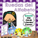 Ruedas del Alfabeto - Spanish Clip Cards Literacy Center