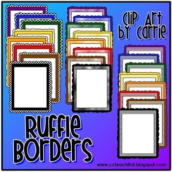 Ruffle Borders (Checkered, Stripes, and Clouds)