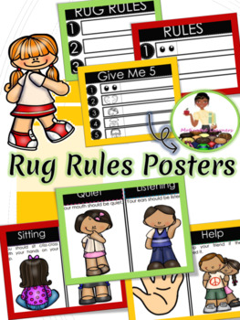Rug Rules (Circle Time Rules and Procedures) First day of school | Back to Schoo