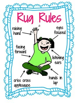 Rug Rules Classroom Management Poster