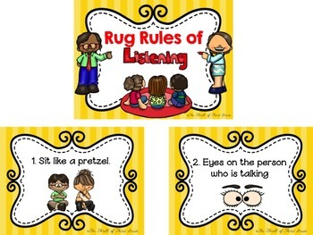 Rug Rules of Listening Posters