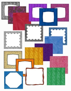 Square Covers - Digital Papers - Backgrounds - a Variety of Textures and Colors