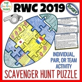 Rugby World Cup 2019 Scavenger Hunt Puzzle Poster