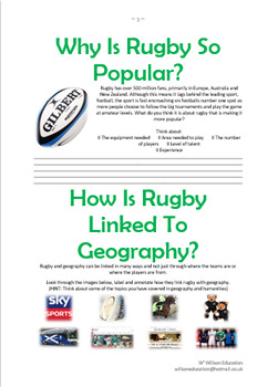 Rugby: Geography In Action