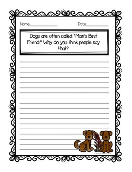 """""""Rugby and Rosie"""" Journal Activity Pack"""