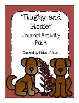 """Rugby and Rosie"" Journal Activity Pack"