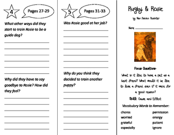 Rugby and Rosie Trifold - Imagine It 3rd Grade Unit 1 Week 1